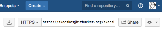Bitbucket Repository url